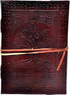 """Sponsored Ad - 10"""" Inch Handmade Leather Stone Journal Large Tree of Life Embossed Journal Book