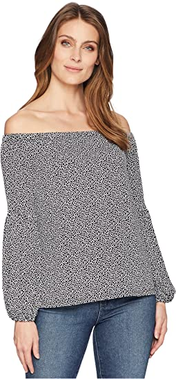 Mini Leopard Off Shoulder Top