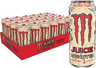 Juice Monster Pacific Punch, Energy Drink, 16 Fl Oz,Pack of 24
