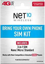 """Net10 - Bring Your Own Phone """"GSM"""" 3-in-1 Sim Card Kit (4G LTE) - """"AT&T"""" Compatible"""