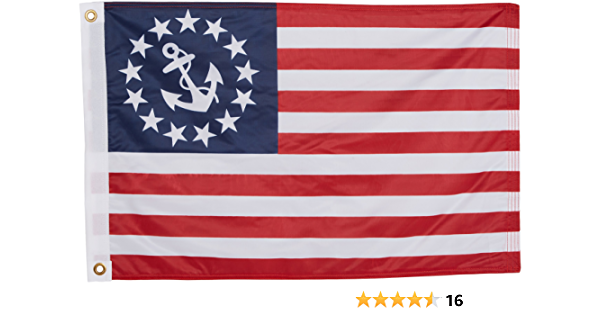 Us Flag Store U S Yacht Anchor Flag 20in X 30in Superknit Polyester Double Sided Buy Online At Best Price In Uae Amazon Ae