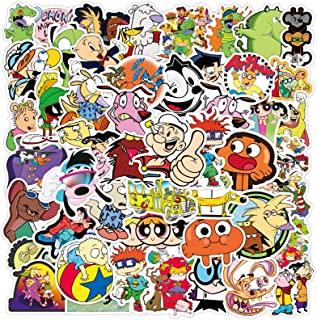 90s Cartoon Stickers Pack for Teens Laptop Water Bottles 50pcs Classic Computer Phone Luggage Skateboard Bike Cars Noteboo...