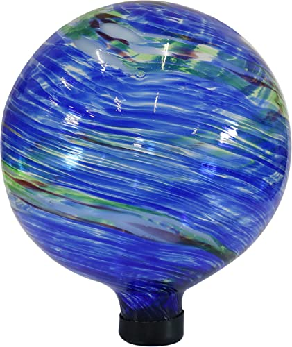 discount Sunnydaze Northern Lights Gazing Ball - Blue and 2021 Green Swirl Decorative Glass Garden Globe Sphere - online sale Outdoor Patio, Lawn and Yard Orb Ornament - 10-Inch online sale