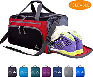 "Venture Pal 20"" Packable Sports Gym Bag with Wet Pocket & Shoes Compartment Travel Duffel Bag for Men and Women"