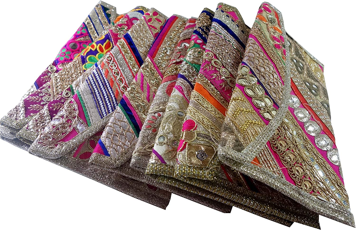 Indian Wholesale 20 pc lot Bulk Mandala Hand Bag Ethnic Clutches Purse Shoulder for Ladies by Panchal Creation-13