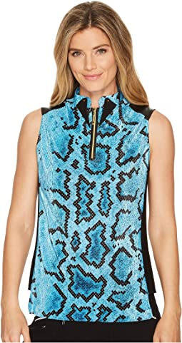 Anaconda Print Sleeveless Top