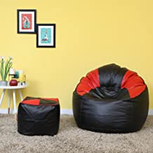 VSK Bean Bag Combo Black & Red XXXL (Without Beans)