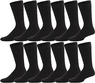 Diabetic Socks, 12 Pairs for Men Women, Non Binding Loose Fitting, Edema, Neuropathy, Diabetes, Therapeutic