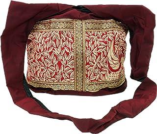 GURU SHOP Sadhu Bag, Schulterbeutel, Hippie Tasche - Türkis, Herren/Damen, Baumwolle, 30x35x10 cm, Alternative Umhängetasc...