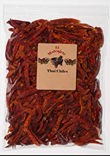 Thai Whole Dried Chile -8 OZ Resealable Bag - El Molcajete Brand
