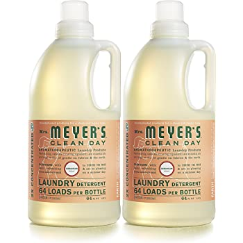 Mrs. Meyer's Clean Day Liquid Laundry Detergent, Cruelty Free and Biodegradable Formula, Geranium Scent, 64 oz- Pack of 2