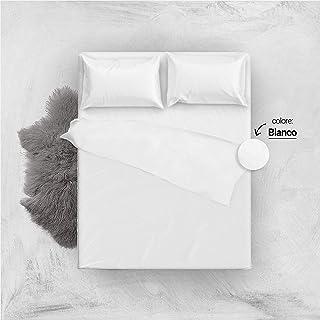 Lenzuola Matrimoniali Bianche Cotone.Amazon It Completo Lenzuola Matrimoniali Bianco Set Di