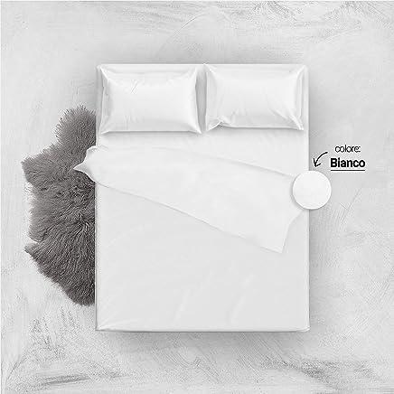 Lenzuola Matrimoniali Low Cost.Amazon It Completo Lenzuola Matrimoniali Bianco Set Di Lenzuola