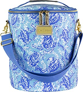 Lilly Pulitzer Insulated Soft Beach Cooler with Adjustable/Removable Strap and Double Zipper Close, Turtley Awesome