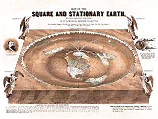 Flat Earth Map - Map of The Square and Stationary Earth -Orlando Ferguson- Poster 18