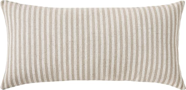 Ravenna Home Casual Striped Throw Pillow 24 X 12 Inch Taupe