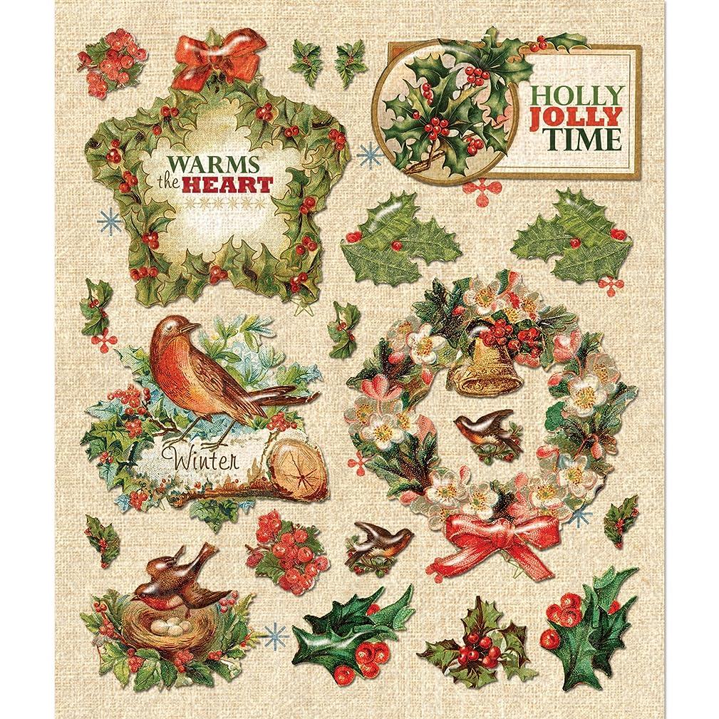 K&Company 30-587076 Holly Berries Wreath Sticker Medley