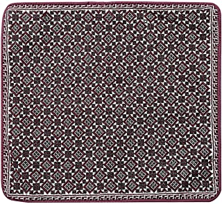 Cotton Handmade Cross Stitch Maroon and Black Classic Cushion Cover -1 Piece
