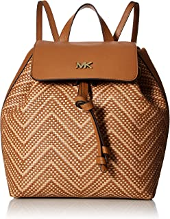 a18c84b07e97 Michael Kors Junie Chevron Leather Flap Backpack