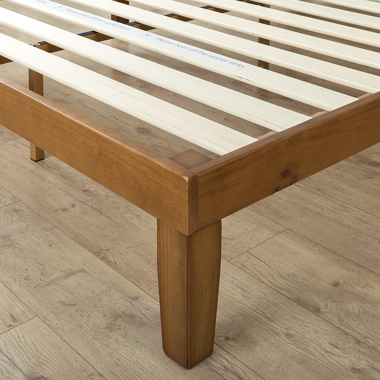 Zinus Lit /à plate-forme en bois de 30,5 cm avec t/ête de lit Alexia// Support de matelas// Pas besoin de sommier// Soutien solide avec lattes en bois// Montage facile// 90 x 190 cm