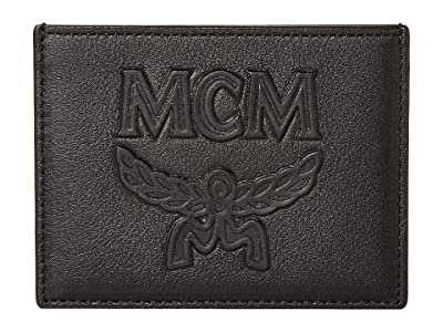 MCM Coburg Injection Card Case (Black) Handbags