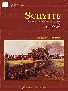 Schytte: Sixteen Recital Etudes, Opus 58 (Piano Solo)