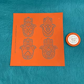 Hamsa Silkscreen Stencil Set of 4 for Polymer Clay, Art Jewelry, and Mixed Media