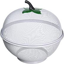 Apple Shaped Fruit and Vegetable Basket, 10-inches, White