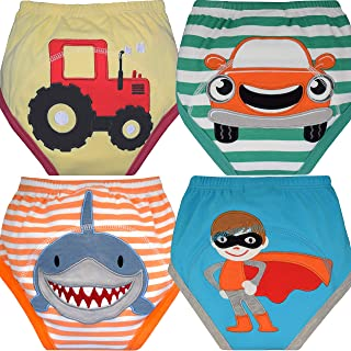 MOM & BAB Potty Training Underwear for Toddlers | Free Wet Bag | 3 X Absorbent | Washable Pants | Soft Cotton | Train Faster (Small)