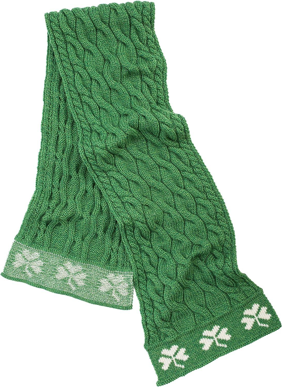 SAOL - Irish Cable Knit - 100% Merino Wool Shamrock Scarf for Men's