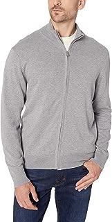 Men's Full Zip Cotton Milano Windowpane Sweater