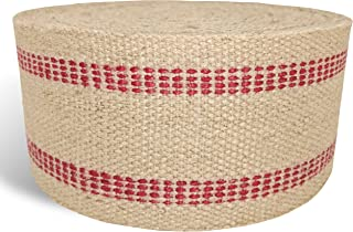 """Red Upholstery Craft Jute Webbing, 11 lbs 3.5"""" x 10Yd and 20 Yd Rolls (20 yd)"""