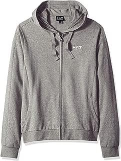 EA7 Core Logo Zip Hooded Sweat Grey