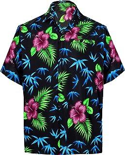 c4b892d7614 LA LEELA Shirt Camisa Hawaiana Hombre XS - 5XL Manga Corta Delante de  Bolsillo Impresión Hawaiana