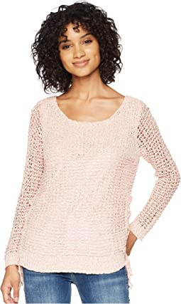 Judd Two-Tone Lace-Up Sweater