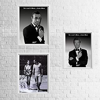 James Bond 007- Vintage Wall Art Trio Set-8 x 10's