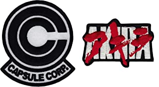 Set2 BW-IO Anime Dragonball Z Capsule Corp. Akira Japaneae Text Embroidered Cosplay Patch