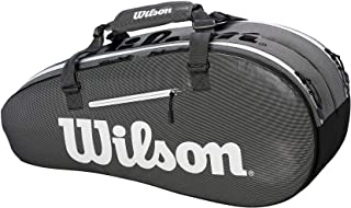 Wilson Super Tour 2 Small Compartment Tennis Bag, Black/Grey