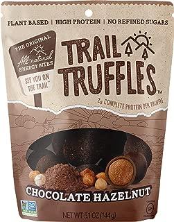 Trail Truffles – Vegan, Paleo Friendly Superfood Protein Balls – Healthy, Plant Based, Gluten Free, Dairy Free, Soy Free, Non-GMO Snacks (Chocolate Hazelnut, 1 Pack)