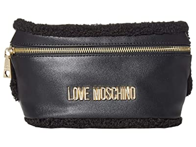 LOVE Moschino Stay Warm Fanny Pack (Fantasy Color Black/Black) Bags
