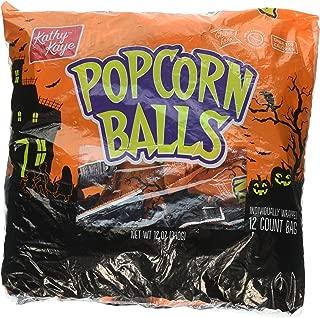 Halloween Popcorn - Popcorn Balls Individually Wrapped
