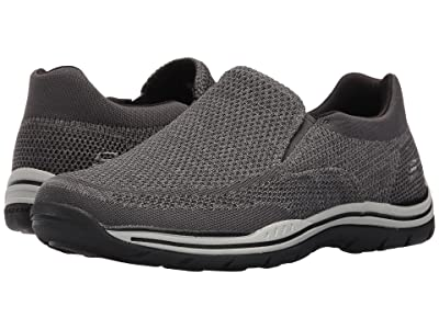SKECHERS Relaxed Fit Expected Gomel (Gray Knitted Mesh) Men