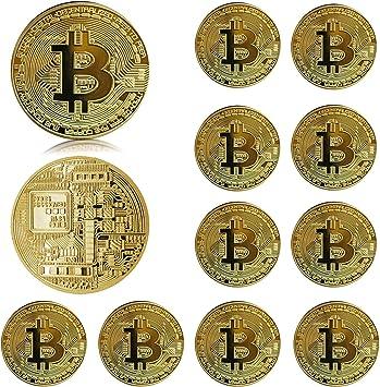 Moneta Fisica Bitcoin Color Oro Pezzo da Collezione Porta Fortuna con Custodia | eBay