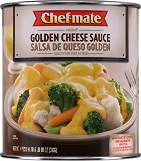 Chef-mate Original Golden Cheese Sauce, Nacho Cheese, Great for Macaroni and Cheese, 6 lb 10 oz, #10 Can Bulk