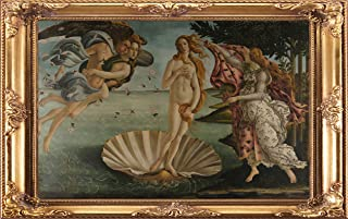 Fabulous Décor - Wall Classic Masterpiece Art, High Definition Large Vinyl Decal Sticker of Framed The Birth of Venus, San...