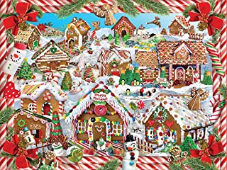 White Mountain Puzzles Gingerbread Village - 1000Piece Jigsaw Puzzle