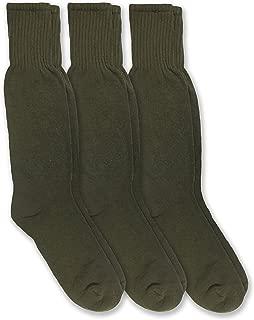 Mens Military Combat Uniform Rib Crew Boot Socks 3 Pair Pack