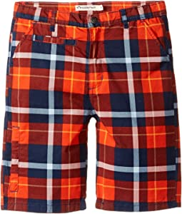 Orange/Navy Plaid