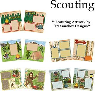 SCOUTING Scrapbook Set - 5 Double Page Layouts