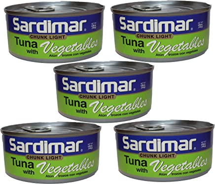 Sardimar Tuna With Vegetables Chunk Light Original 4.98oz (Pack Of 5)